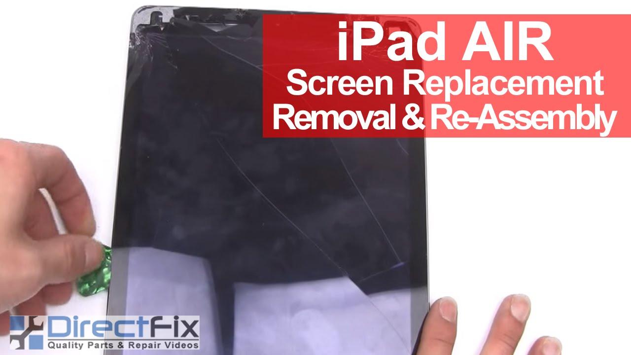iPad Air ガラス割れ・フロントガラス交換修理方法動画