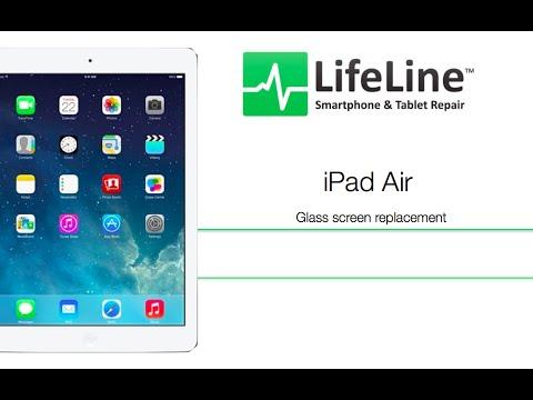 iPad air フロントガラス・液晶交換修理方法動画