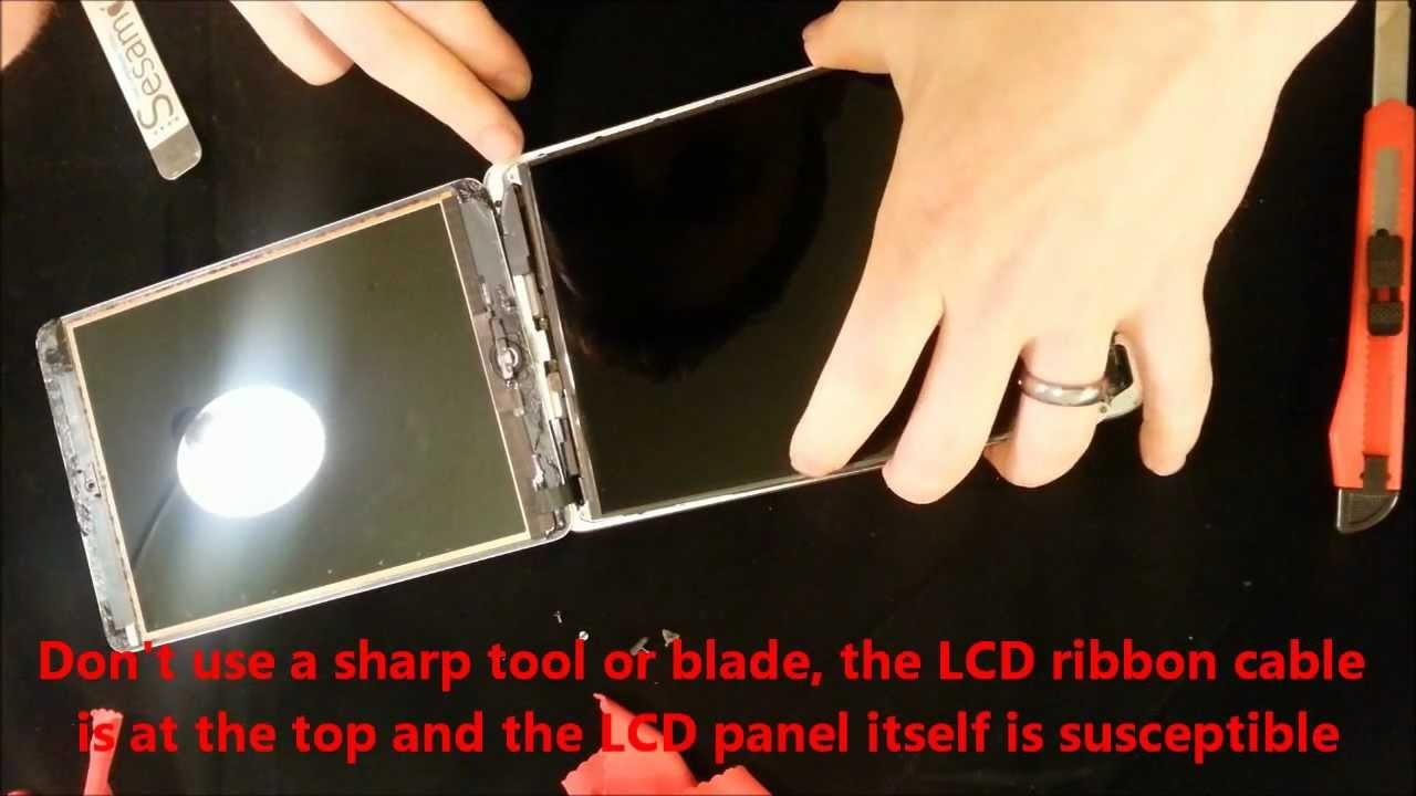 iPad mini フロントガラス・フロントパネル交換修理方法動画