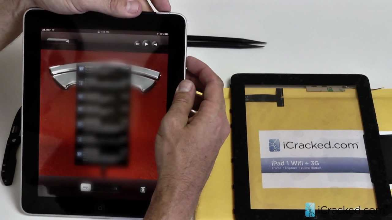 iPad1(初代)フロントガラス交換取付修理方法動画