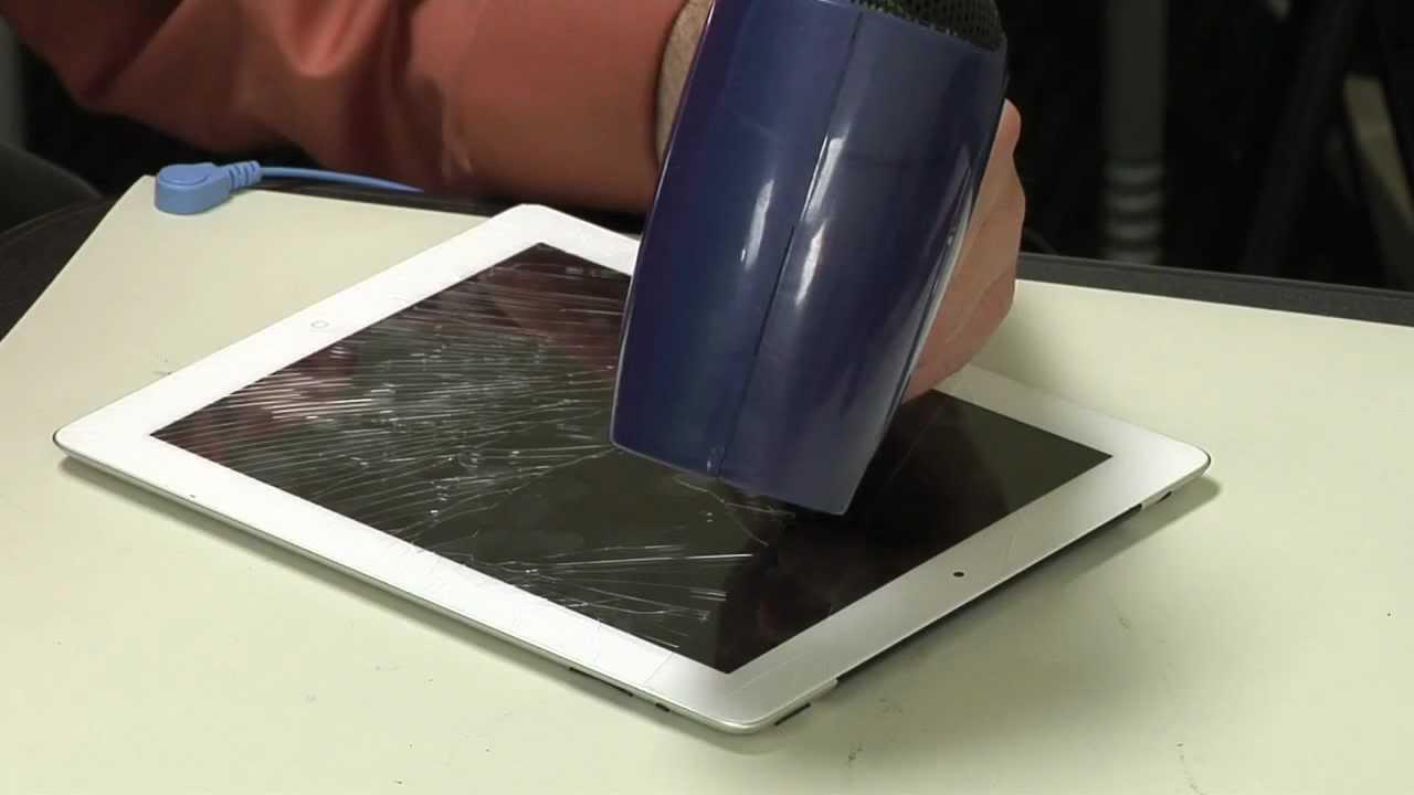 iPad2 iPad3フロントガラス割れ修理交換方法動画