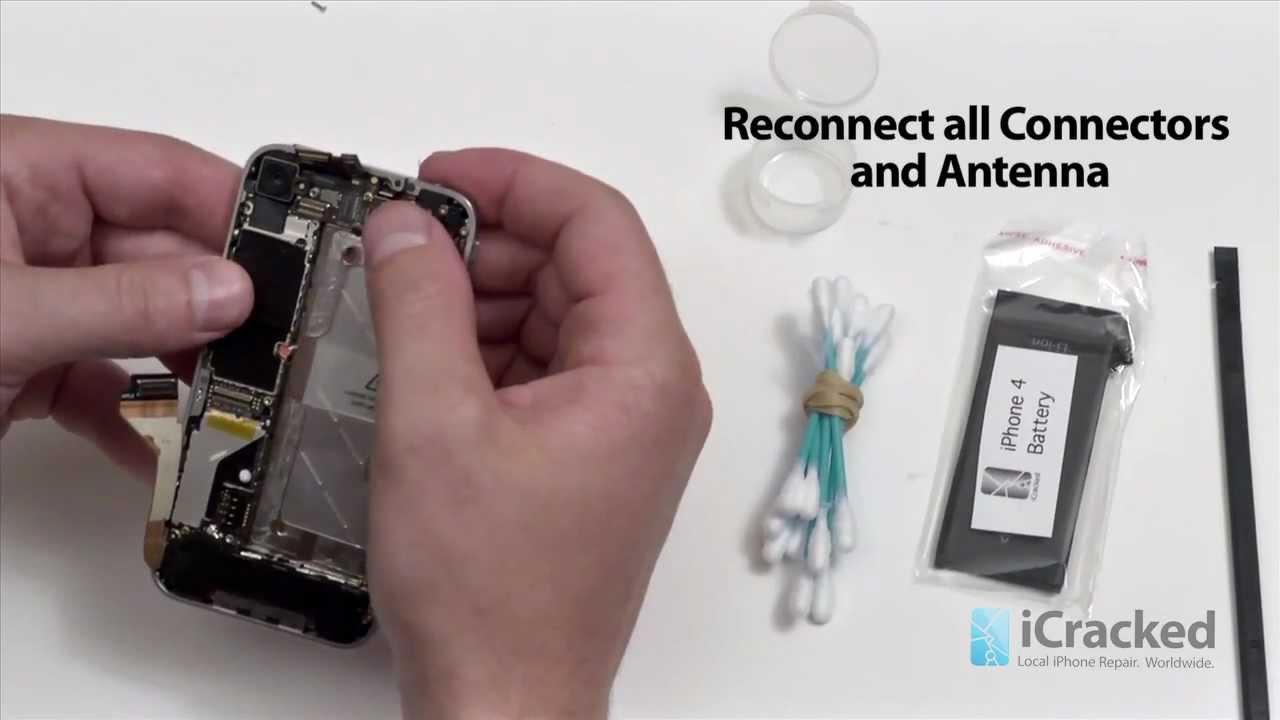 iPhone 4 水没修理方法動画