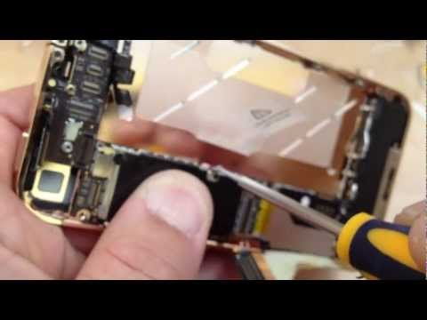 iPhone 4 ミドルフレーム交換動画
