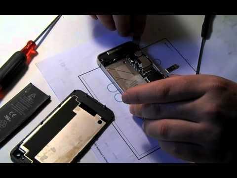 iPhone 4S 水没修理動画