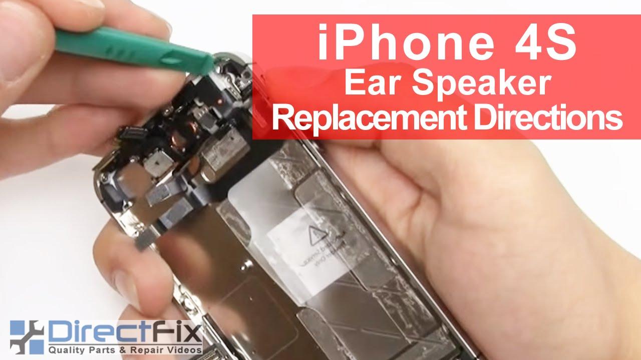 iPhone 4S イヤフォンジャック修理&ボリュームボタン修理&マナースイッチ修理動画