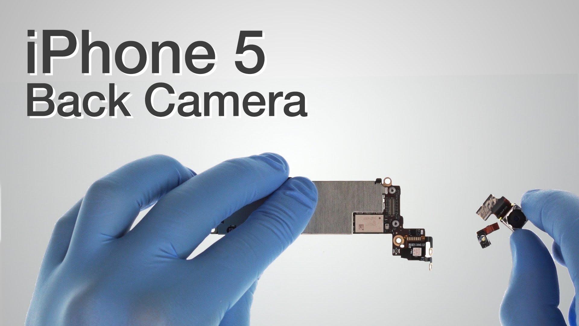iPhone 5 リアカメラ交換修理動画