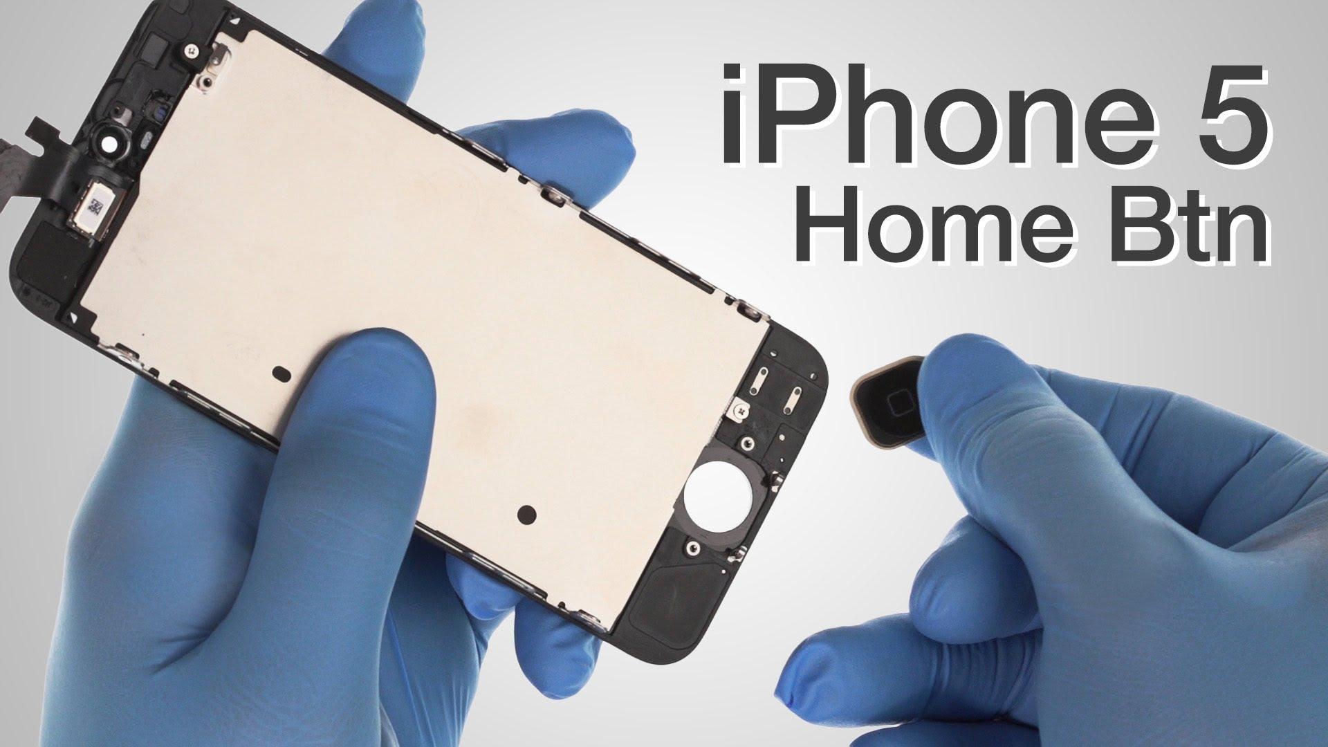 iPhone 5 ホームボタン交換修理動画