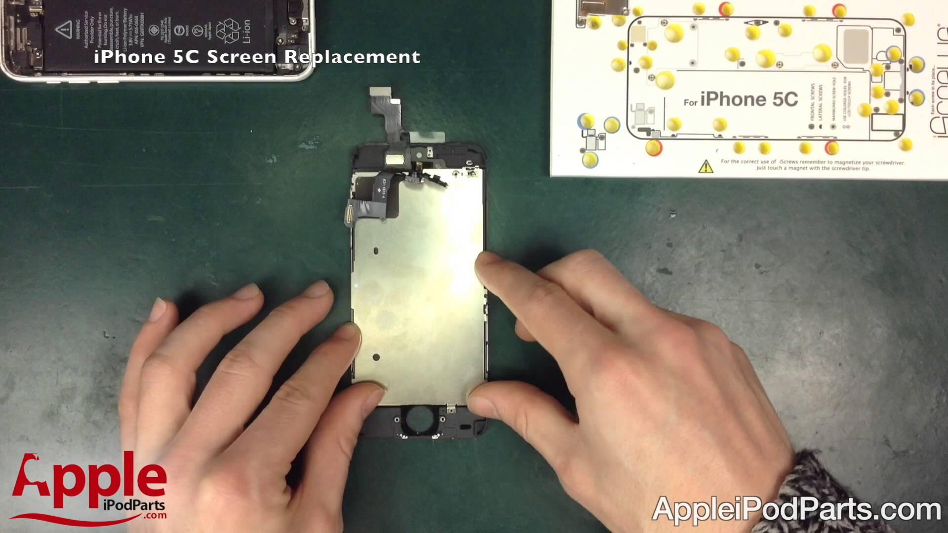 iPhone 5C ガラス割れ修理方法動画