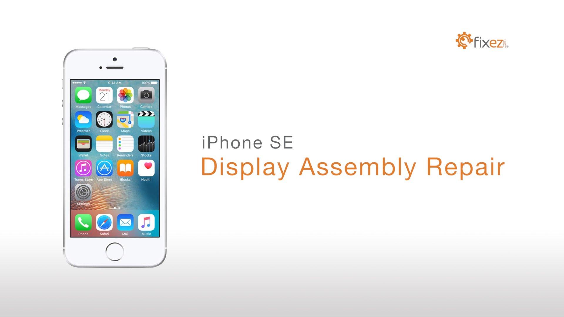 iPhone 5SE フロントパネル交換・ガラス割れ修理方法動画