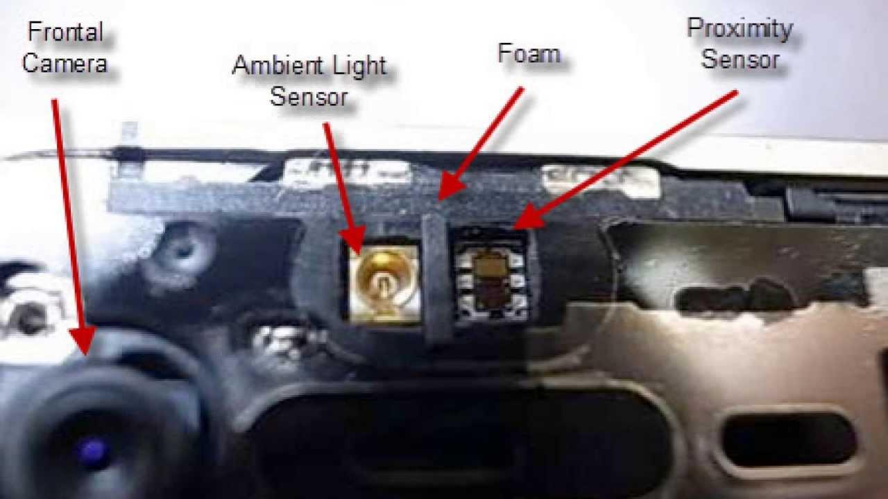 iPhone4 近接センサー修理動画(フロントパネル交換時)