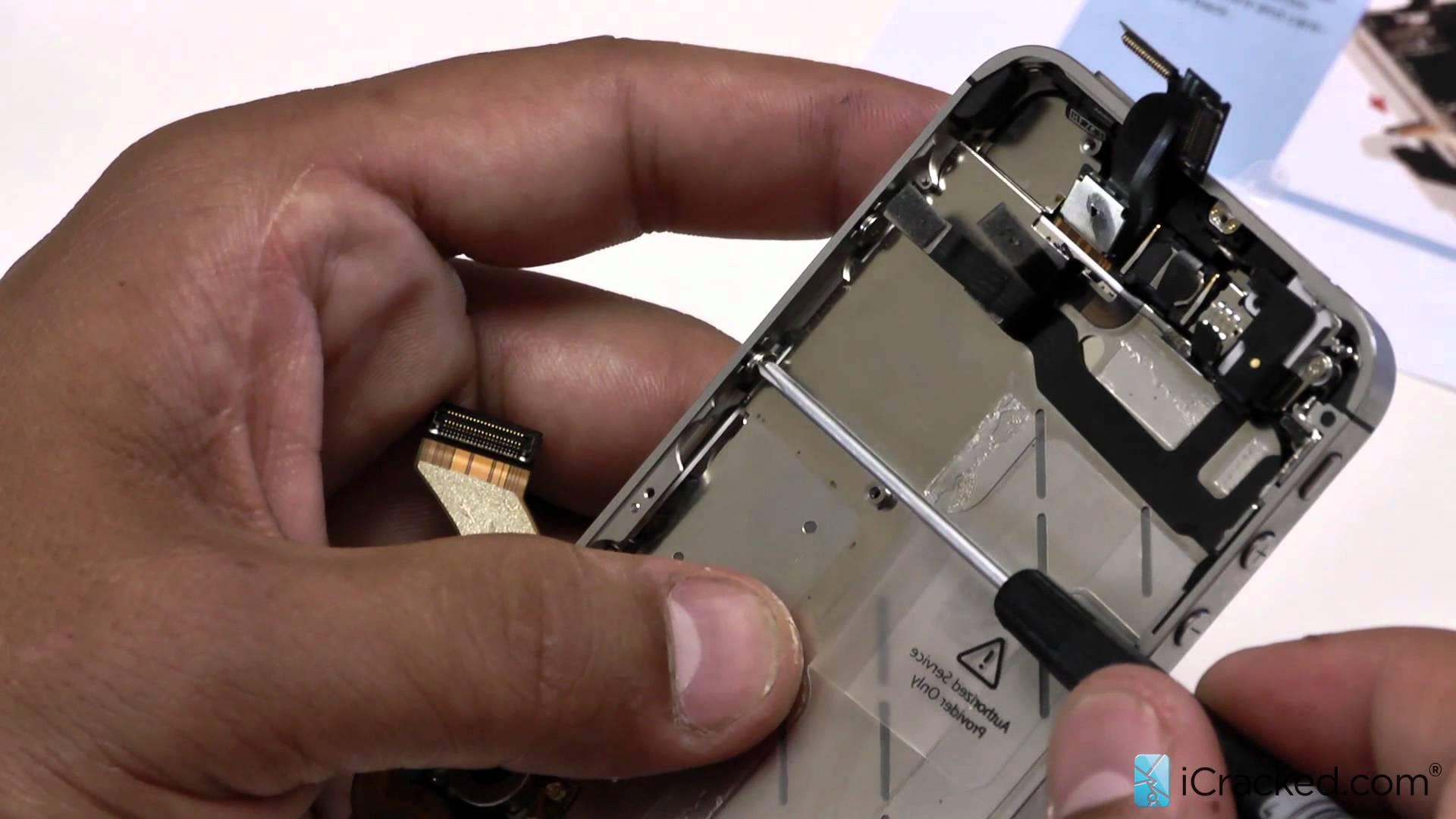 iPhone4s フロントパネル交換修理・取りつけ方法動画