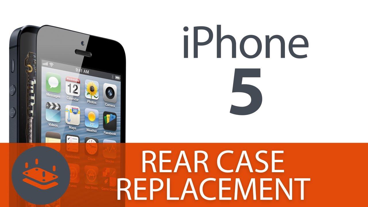 iPhone5 リアケース・バックパネル交換方法動画