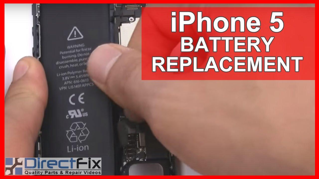 iPhone5 バッテリー(電池)交換修理方法動画