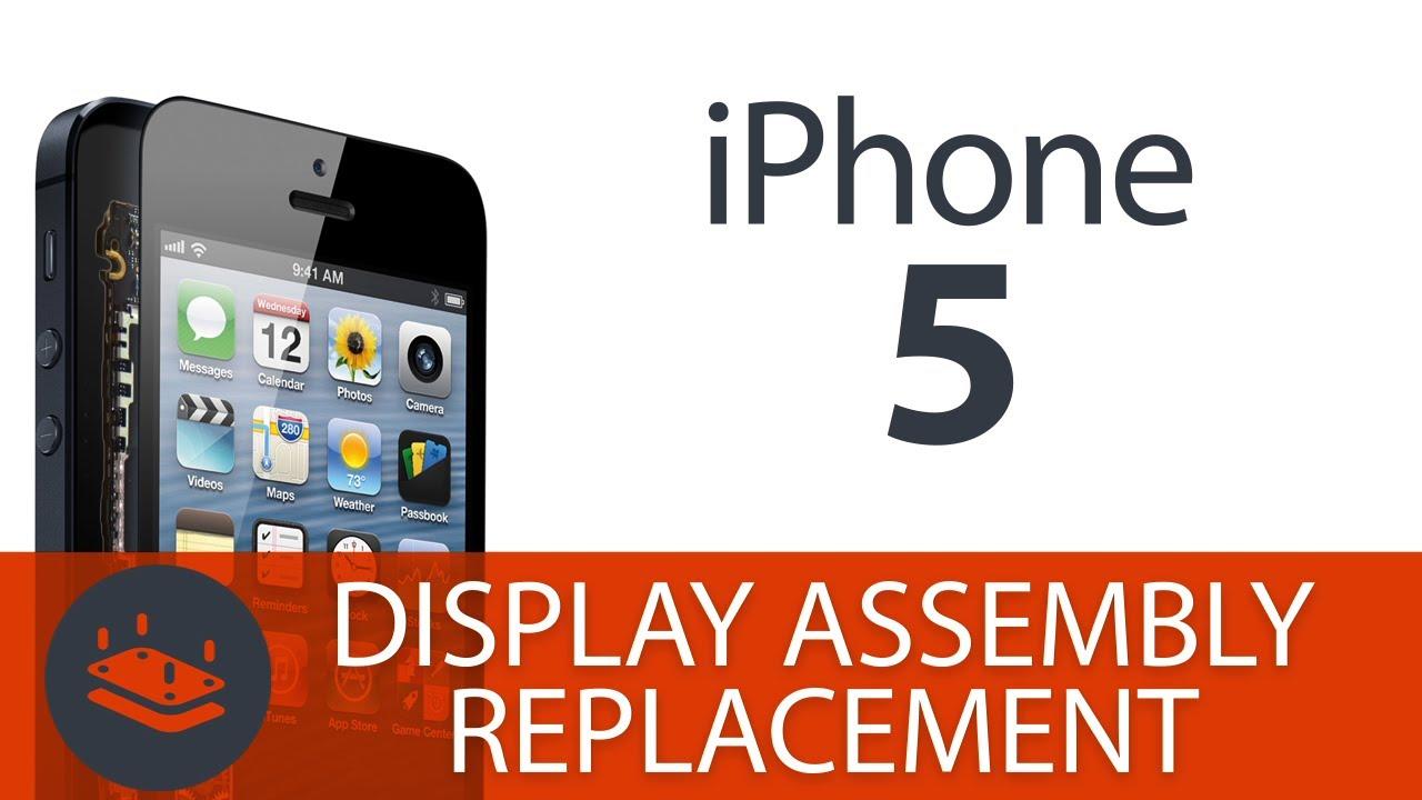 iPhone5 フロントガラス・液晶交換修理方法動画