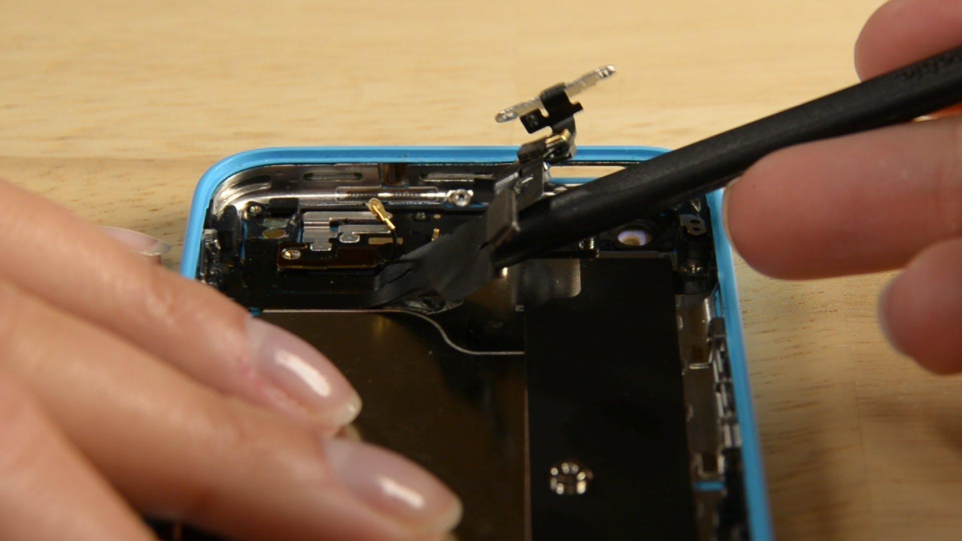iPhone5C スリープボタン・バイブスイッチ・ボリュームボタン ケーブル交換修理方法動画