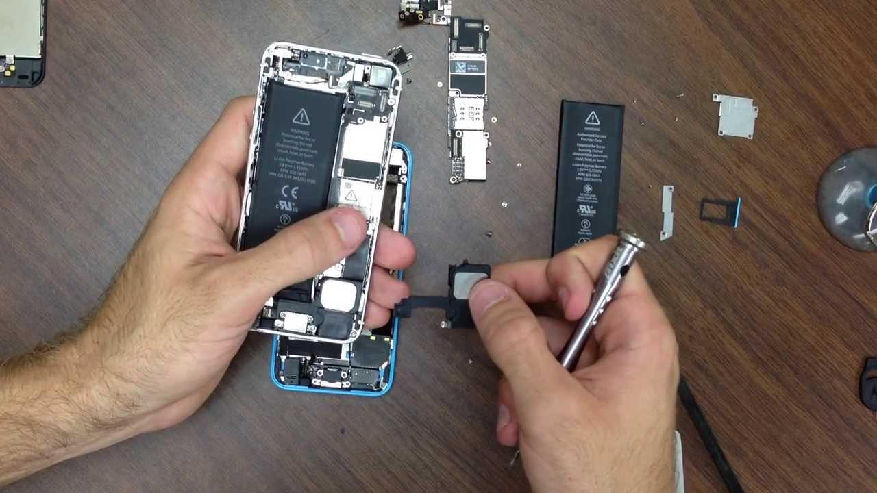 iPhone5C 分解方法動画(iPhone5と比較)