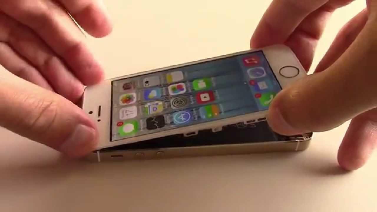 iPhone5S 液晶パネル交換修理チュートリアル動画
