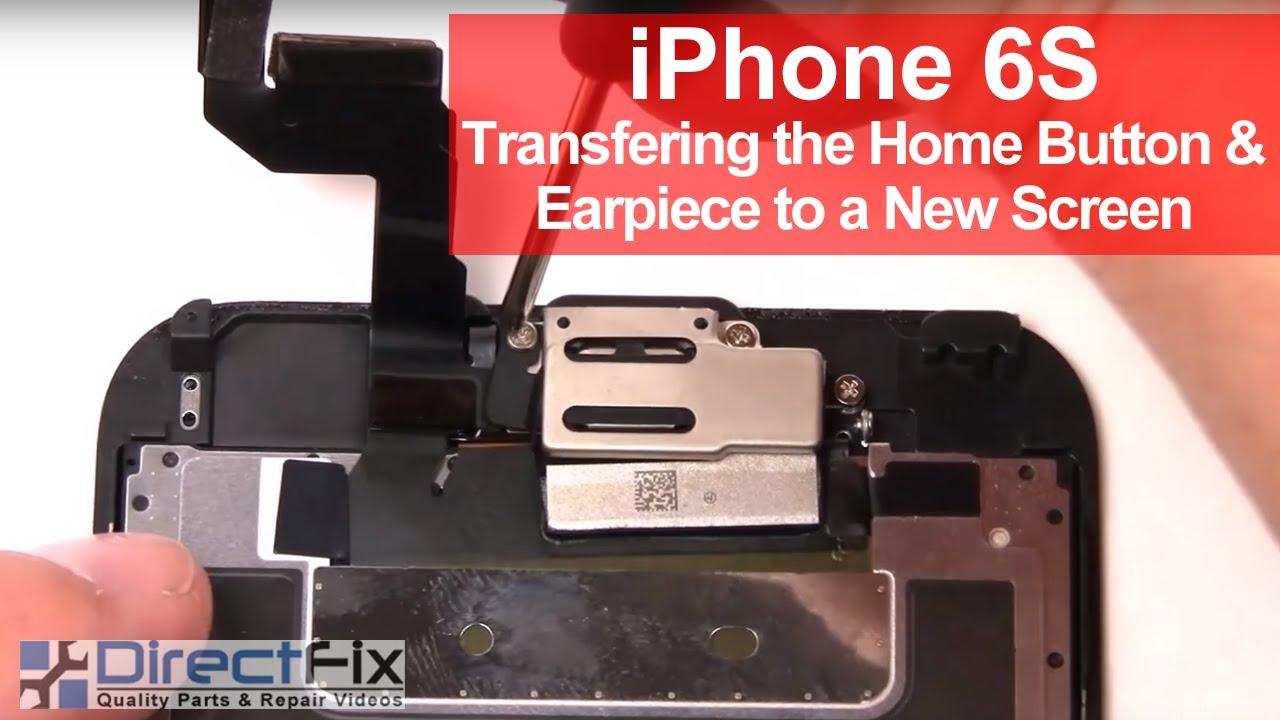 iPhone6S イヤースピーカー&ホームボタン取り外し方法動画