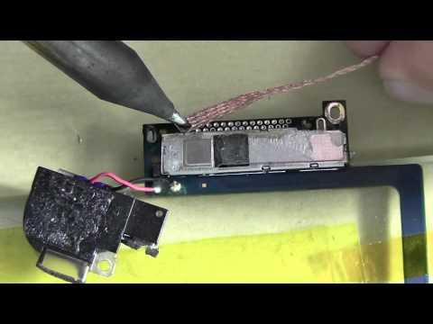 iPod touch 4 ドックコネクタ取り外し動画