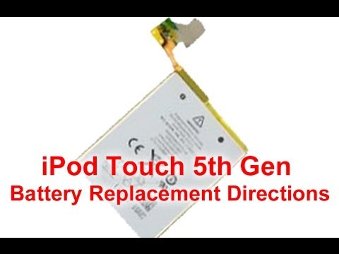 iPod Touch 5 バッテリー(電池)交換方法動画