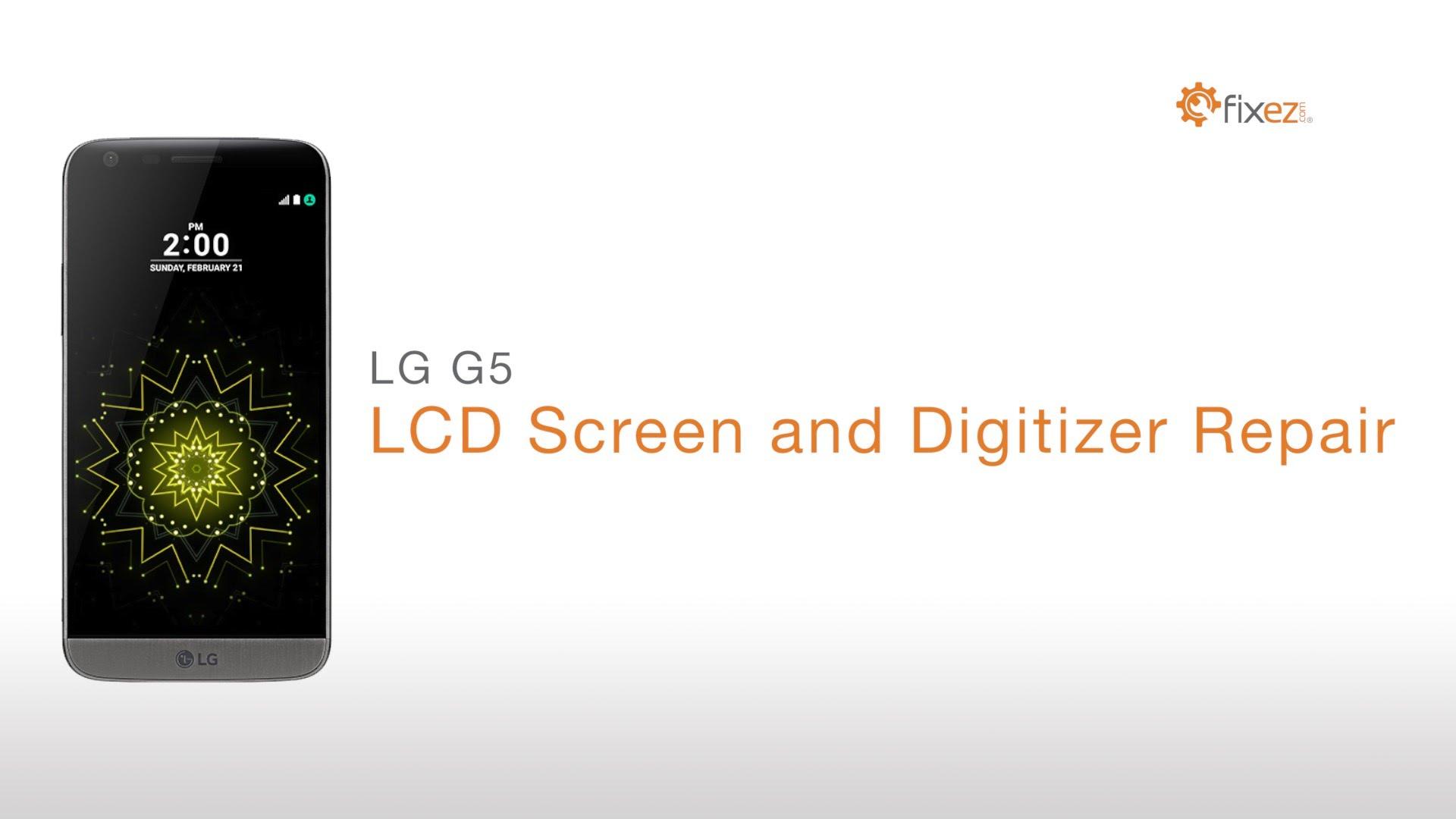 LG G5フロントパネル・ガラス修理方法動画