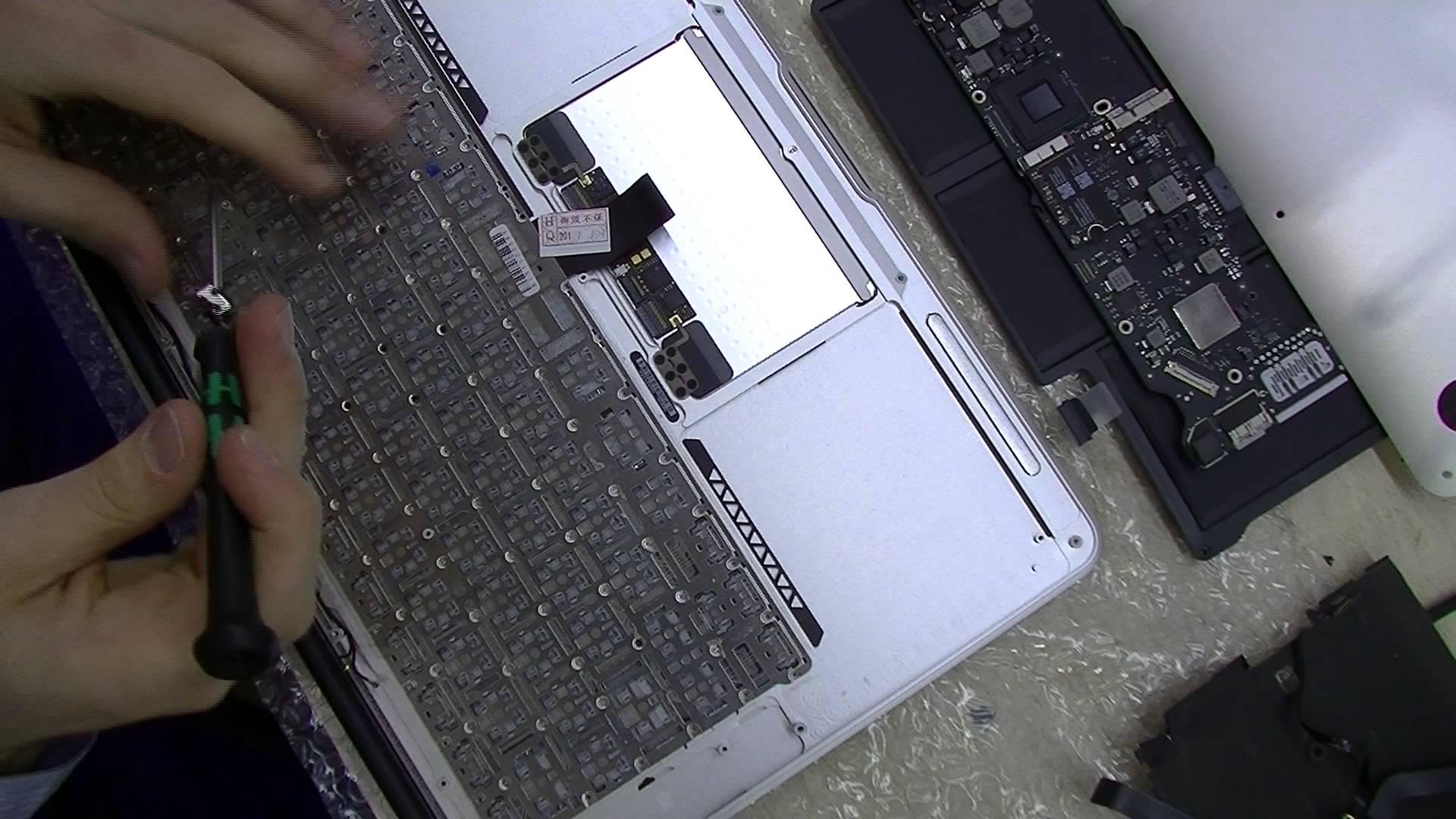 Macbook Air キーボード交換修理方法動画