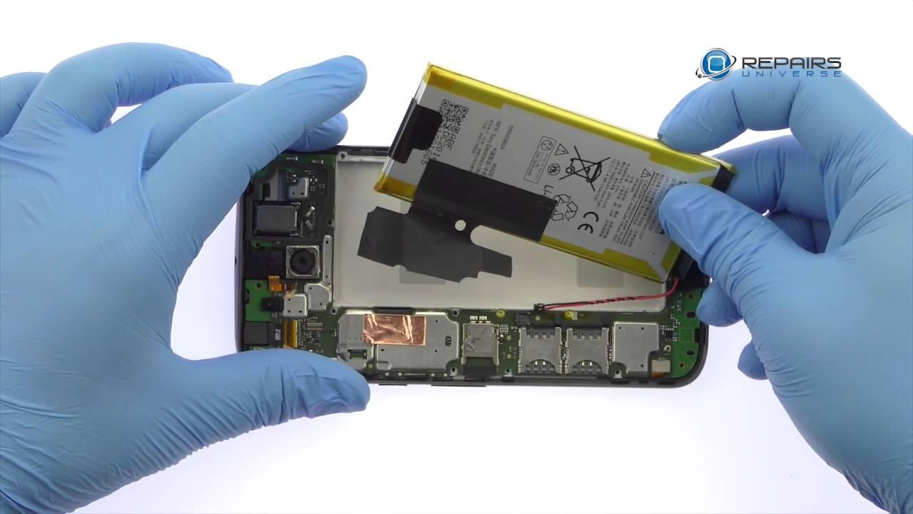 Motorola Moto G4 Plusバッテリー交換修理方法動画