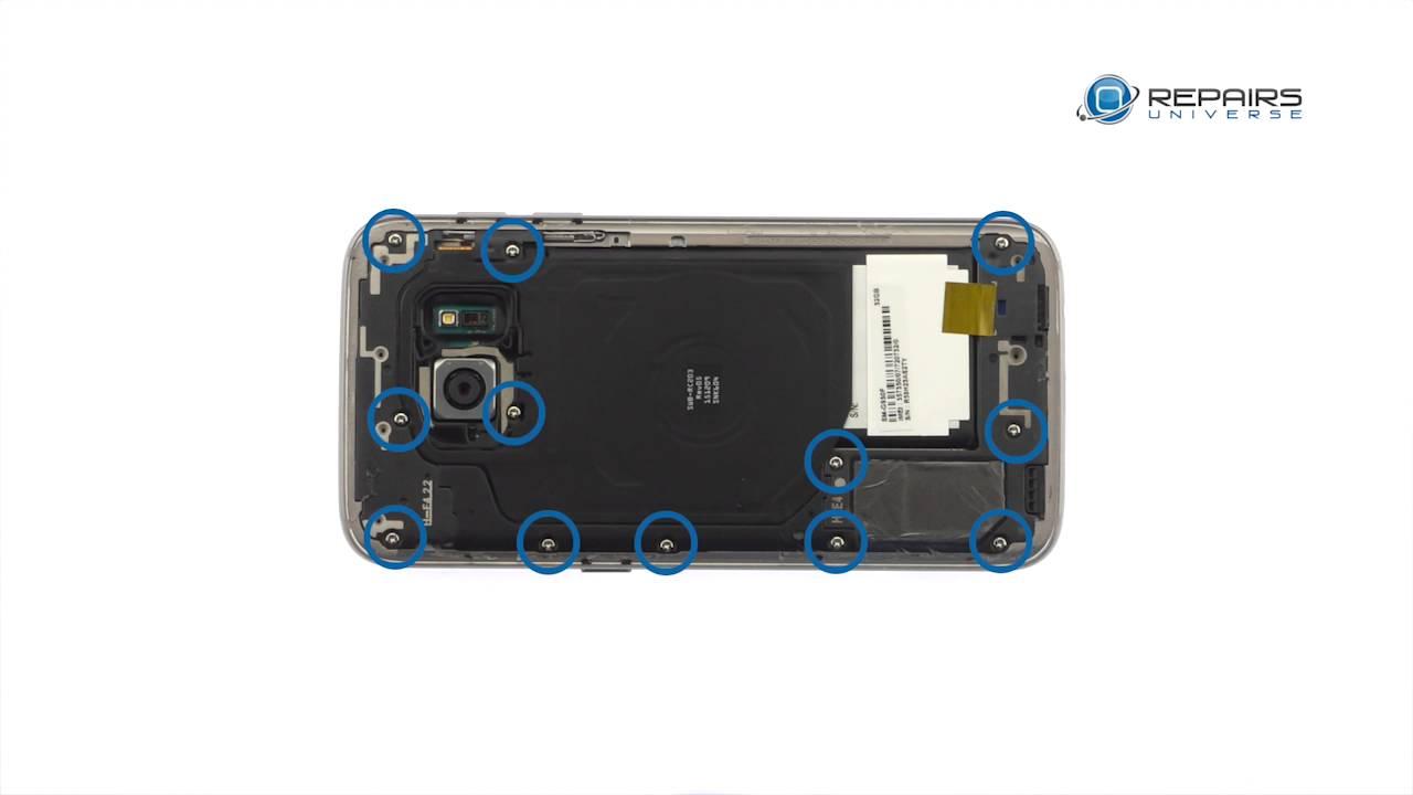 Samsung Galaxy S7バッテリー&リアカバー交換修理方法動画