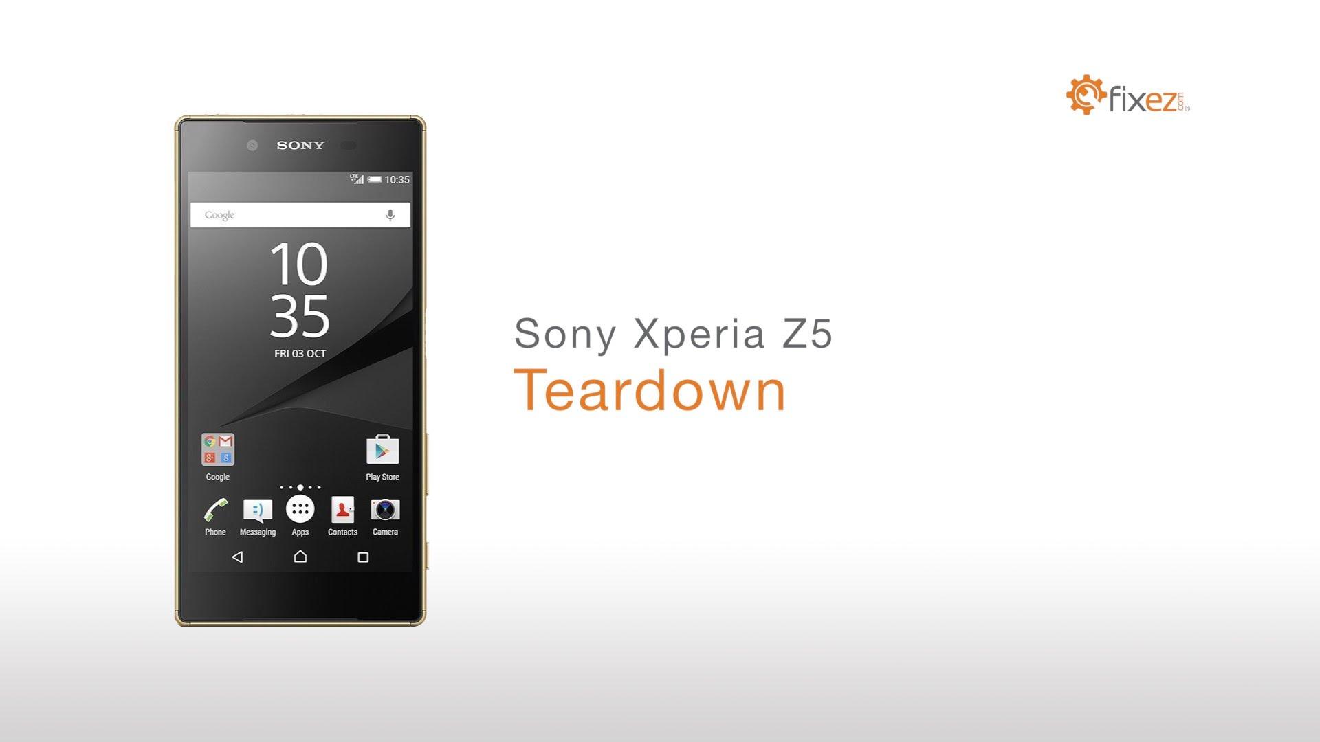 Sony Xperia Z5分解修理方法動画