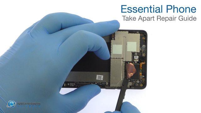 Essential Phone 分解修理方法動画(パーツ交換方法)