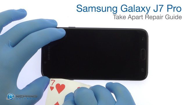 Samsung Galaxy J7 Pro 分解修理方法動画(パーツ交換方法)