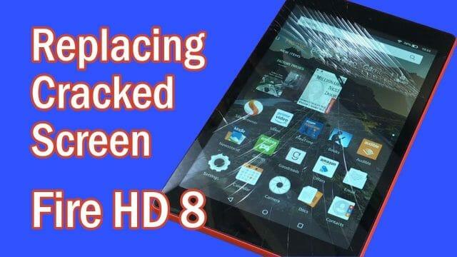 Amazon Fire HD 8 ガラス割れ交換修理方法動画