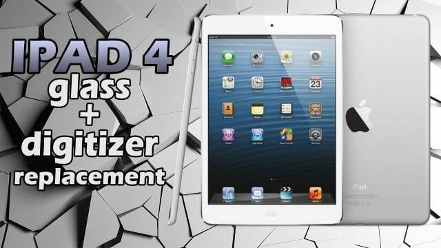 iPad 4 ガラス割れ修理方法動画