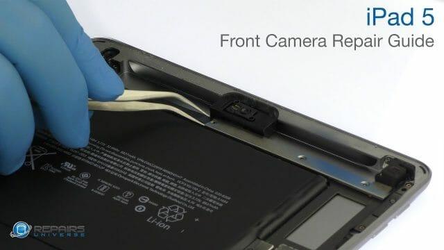 iPad 5 フロントカメラ交換修理方法動画
