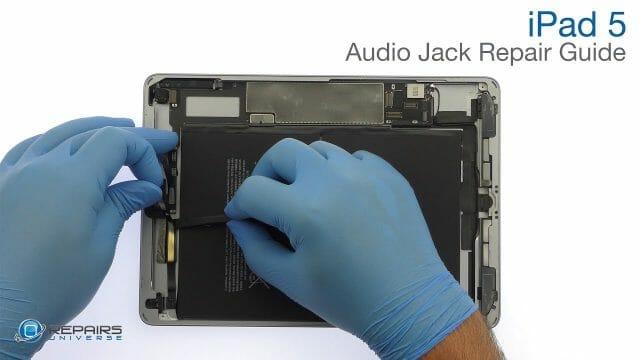 iPad 5 ヘッドホンジャック(イヤホンジャック)交換修理方法動画