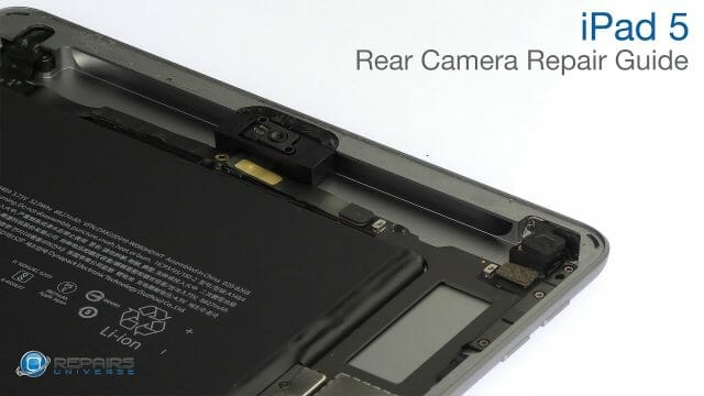 iPad 5 リアカメラ交換修理方法動画