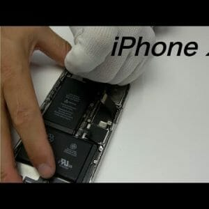 iPhone X 水没修理動画