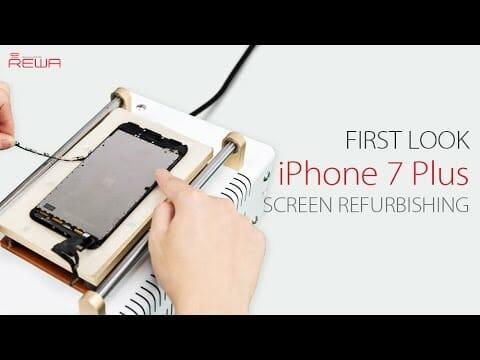 iPhone7 plus ガラスのみ交換修理方法動画 セパレーター使用