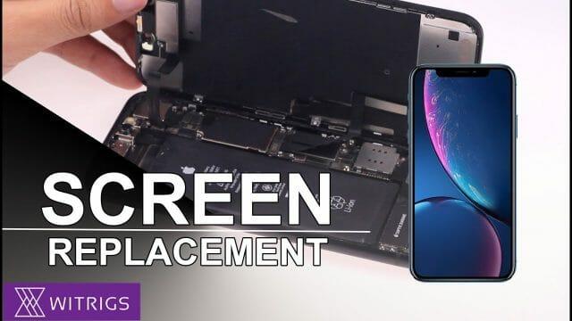 iPhoneXR ガラス割れ 修理方法チュートリアル動画