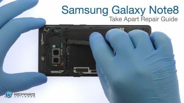 Samsung Galaxy Note8 分解修理方法動画
