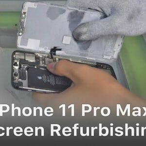 iPhone11ProMaxコールドアシスタントによる画面修理方法動画